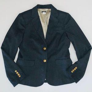 J. Crew Schoolboy Style Wool Blazer Women's 6
